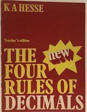 The Four Rules Of Decimals (Teacher's edition)