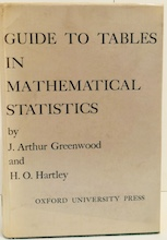 Guide To Tables In Mathematical Statistics