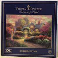 Thomas Kinkade Rosebud Cottage