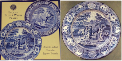 English Blue and White Plates